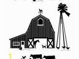 Farm theme Wall Mural Dana Decals Farm Scene Silhoutte Small Wall Decal