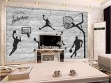 Fast and Furious Wall Mural Beibehang 3d Brick Wall Hand Painted Basketball Element Wallpaper