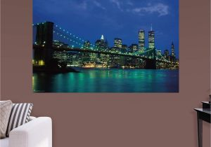 Fathead Wall Murals Fathead New York City Twin towers Nightscape Wall Mural 69
