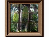Faux Window Murals Fake Window View Tropical Trees Mural Wall Mural Wall Sticker