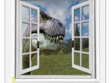 Faux Window Wall Murals T Rex Dinosaur View Mural Fake Window Wall Decal