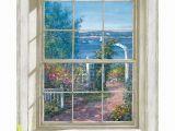 Faux Window Wall Murals Trompe L Oiel Harbor View Wall Accent Mural