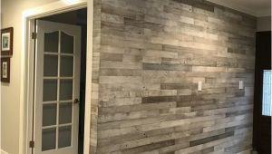 "Faux Wood Wall Mural 3"" Reclaimed Peel and Stick solid Wood Wall Paneling"