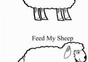 Feed My Sheep Coloring Page Parable Of the Lost Sheep Craft Elementary Bible Craft Luke 15