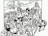 Feeding Of the 5000 Coloring Page Coloring Jesus Feeding the 5000 Coloring Home