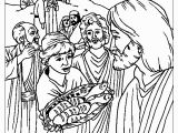 Feeding Of the 5000 Coloring Page Feeding the 5000 Coloring Page