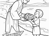 Feeding Of the 5000 Coloring Page Jesus Feeding 5000 Coloring Page Coloring Home