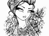 Female Tattoo Coloring Pages Coloring Book Tattooing Book Free Pages to Print for
