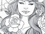 Female Tattoo Coloring Pages Girls with Tattoos Pack Adult Coloring Pages by