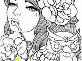 Female Tattoo Coloring Pages Hippie Dover Designs for Coloring Pesquisa Do Google