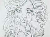 Female Tattoo Coloring Pages Pin On Tattoos