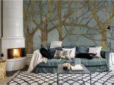 Feng Shui Wall Murals Elemente Metall & Wasser Tapete Golden Day Turquoise Von