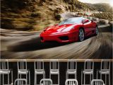 Ferrari Wall Mural Custom 3d Wallpaper Stereo City Night View Sports Car Murals