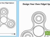 Fidget Spinner Coloring Page Design Your Own Fid Spinner Worksheet Worksheet