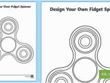 Fidget Spinner Coloring Pages to Print Design Your Own Fid Spinner Worksheet Activity Sheet