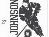 Field Hockey Wall Murals New 2015 Custom Name & Number Hockey Player Vinyl Wall Decals Mural Wall Stickers for Kids Rooms Size 56 69cm Wall Stickers Uk Wall Stickers Vinyl
