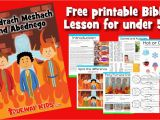 Fiery Furnace Coloring Page Shadrach Meshach and Abednego Preschool Bible Lesson
