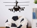 Fighter Jet Wall Mural Behang Gereedschap Access Army Helicopter Art