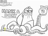 Finding Dory Characters Coloring Pages Print Out Cartoon Finding Dory Hank Coloring Page for Kidsee
