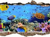 Finding Nemo Wall Mural Uk W037 Aquarium Fish Ocean Sea Coral Wall Decal Poster 3d Art Stickers Vinyl Roomkids Bedroom Baby Nursery Cool Livingroom Hall Boys Girls