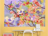 "Fine Art Wall Murals Cherry Blossom Bir S Lavender and Coral"" by Winborg Sisters"