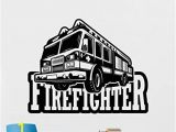 Fire Engine Wall Mural Amazon Fire Truck Wall Decal Fire Engine Vinyl Sticker