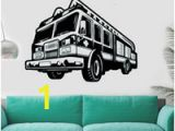 Fire Engine Wall Mural Fire Car Wall Decal Firefighter Wall Vinyl Stickers New Design Car Style Wall Murals Engine Fireman Removable Wallpaper