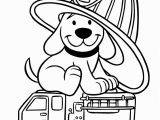 Fire Hydrant Coloring Page Firedog Clifford Coloring Page