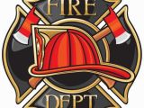 Fire Station Wall Mural Fire Department or Firefighters Maltese Cross Symbol Vinyl Wall
