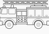 Fire Truck Coloring Pages for Preschoolers 12 Luxury Fire Truck Coloring Page