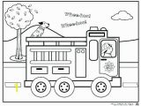 Fire Truck Coloring Pages for Preschoolers Coloring Fire Truck Coloring Sheet