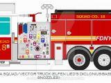 Fire Truck Mural 2015 Ferrara Ultra Fdny Squad 18 Vector Truck by O530fn94xwb
