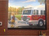 Fire Truck Mural Custom Mural Of the Glastonbury Fire Department Picture Of