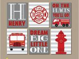 Fire Truck Mural for Wall Fire Truck Wall Art Fire Truck Decor Canvas or Prints