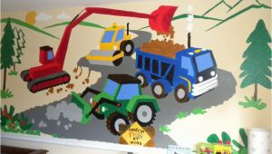 Fire Truck Mural for Wall Small Under Construction Wall Mural