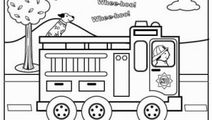 Fire Truck Printable Coloring Pages Fire Truck Coloring Page for Preschoolers