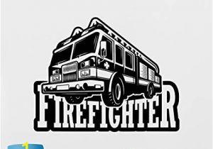 Fire Truck Wall Murals Amazon Fire Truck Wall Decal Fire Engine Vinyl Sticker