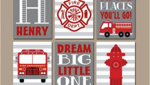 Fire Truck Wall Murals Fire Truck Wall Art Fire Truck Decor Canvas or Prints