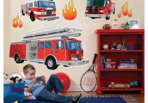 Fire Truck Wall Murals Fire Trucks Wall Decal