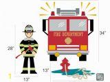 Fire Truck Wall Murals Fireman with Fire Truck & Fire Hydrant Vinyl Wall Decals Children S Room or Playroom Wall Sticker