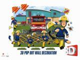 Fireman Sam Wall Mural Fireman Sam 3d Pop Out Wall Decoration Paper Card Multi Colour