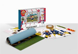 Fireman Sam Wall Mural Fireman Sam 3d Pop Out Wall Decoration Paper Card Multi Colour