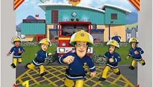 Fireman Sam Wall Mural Fireman Sam 3d Pop Out Wall Decoration Papercard Multi Colour 152
