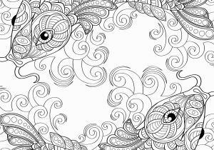 Fish with Scales Coloring Page Yin and Yang Pieces Symbol Fish Coloring Page for Adults