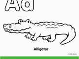 Fisher Price Alphabet Coloring Pages Alligator Coloring Pages Preschool