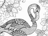 Flamingo Coloring Pages Pdf Free Flamingo Colouring Page for Adults