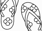 Flip Flop Coloring Pages for Kids Awesome Flip Flop Coloring Page