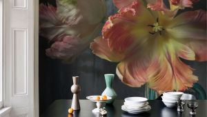 Floral Mural Designs Bursting Flower Still Mural by Emmanuelle Hauguel
