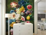 Floral Mural Designs Fashion Interior Flower Design Oil Painting 3d Mural Wallpaper Hotel