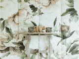 Floral Mural Designs isn T She Lovely This Oversized Feminine Floral Wall Mural Adds A